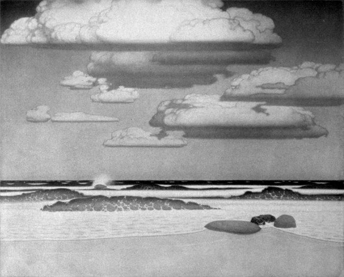 Oskar Bruno Zwintscher - Offenes Meer - Gemälde